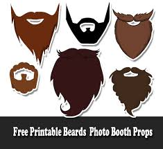 printable photo booth props summer free printable beards photo booth props jpg