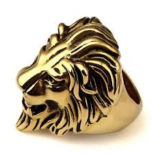 aliexpress buy nyuk new arrival men ring gold mens top quality 316l stainless steel gold leo lion king