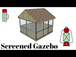 screened gazebo plans myoutdoorplans free woodworking plans