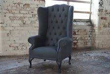 velvet high back chair armchairs ebay