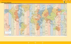 Time Zone Map World Time Zone Map Android Apps On Google Play