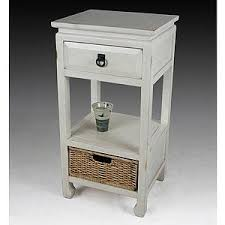 Small Accent Table Vintage White Accent Table With Basket