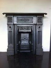 Victorian Cast Iron Bedroom Fireplace All In One Fireplaces Victorian Architectural Antiques Ebay
