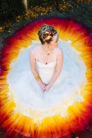 purple and orange wedding dress we spent 61 hours to create this dipdye wedding dress