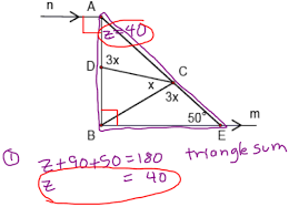 Interior Exterior Angles Journal 1 7 Exterior Angles Theorem West Side Geometry