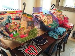 filled easter baskets boys make your own umbrella easter baskets non candy centered allergy