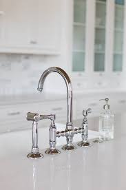bridge kitchen faucet with side spray amazing rohl polished nickel country kitchen three leg bridge