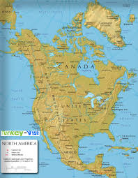 Central America Physical Map by North America Physical Map Blank