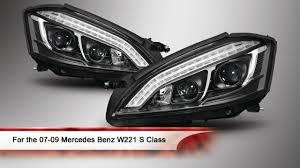 2010 mercedes s550 lights 07 09 mercedes w221 s class drl led projector headlights