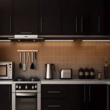 counter kitchen cabinet lights ultra thin led cabinet lighting dimmable counter lighting 10w 600lm cri90 daylight white 5000k all accessories included 2 pack