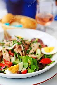 restaurant cuisine nicoise nicoise salad in restaurant stock photo ivanmateev 62274463
