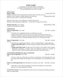What Is Job Title In Resume by Template For A Resume