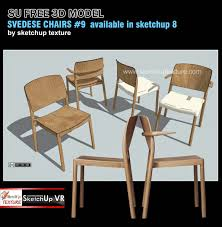 sketchup texture fre sketchup model wood chairs 9