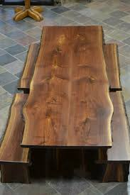 dining tables custom made live edge walnut slab dining table beth pinterest