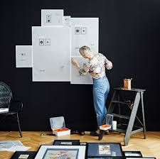 hang a gallery wall with ribba frames
