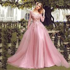 evening maxi dresses sleeves appliques lace dusty pink evening maxi
