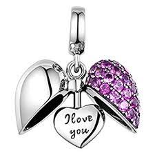 sterling silver love heart bracelet images I love you silver heart crystal charm sterling silver 925 jpg