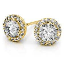 gold diamond stud earrings what to consider when buying gold stud earrings as a gift