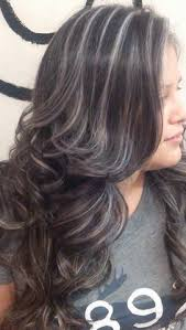 gray blending for dark hair image result for transition to grey hair with highlights hair