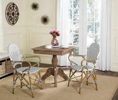 European Bistro Chair Pe Wicker Armchair Dining Chairs Safavieh