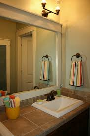 Custom Bathroom Mirror Bathroom Mirror Frames Ideas Battey Spunch Decor