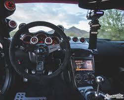 custom nissan 370z interior nissan 350z black and white boot interior cars trucks