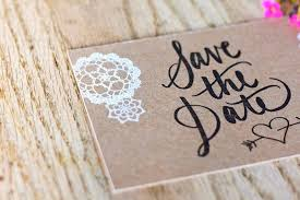 rustic save the dates catherine adam s rustic chipboard and lace save the dates