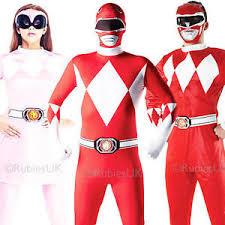 Power Rangers Halloween Costumes Adults Mighty Morphin Power Rangers Fancy Dress 1990s Mens Ladies