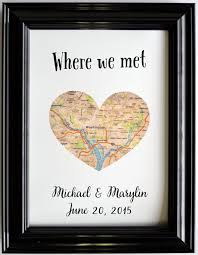monogrammed anniversary gifts custom wedding anniversary gift for couples personalized map