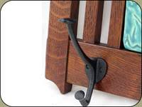 mission style 3 hook coat rack w 6x12 tile sold separately cr1