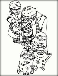 minions of despicable me free coloring color zini