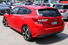 2017 subaru impreza hatchback red vehicle stock tom kerr