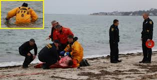 water rescue extremely hypothermic woman pulled from chilly surf