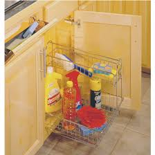 kitchen cabinet accessory undersink organizers multi use baskets with handle and accessory