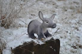 Rabbit Home Decor Needle Felted Animal Felted Baby Aardvark Anteater