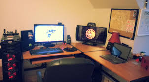 desk ergonomic desk set up amazing gaming desk setup best