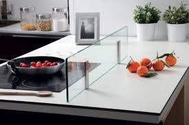 credence en verre trempé pour cuisine crédence en verre pour îlot de cuisine