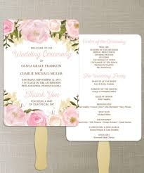 wedding fan programs diy instant floral diy printable wedding fan programs