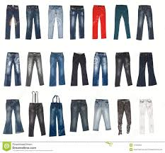 various types of jeans pants stock photo image 11526964