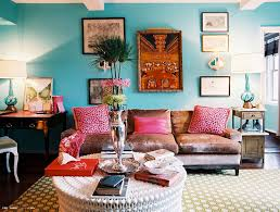 OUR DREAMS CAN BE TURQUOISE Blue Wall Paints Colorful - Pink living room set