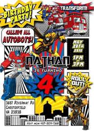 diy printable transformers rescue bots birthday invitation by