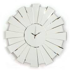 buy art deco style mirrored wall clocks online uk arrowfile