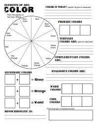 Home Design Worksheet Color Wheel Chart For Teachers And Students Worksheet Arafen