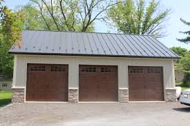 Home Garage Ideas by Beautiful 3 Bay Garage Pole Building Pole Barn Kits Pinterest