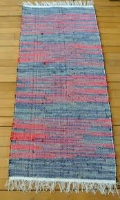 Cottage Rugs Hand Woven Rag Rug Union 36 Rug Loom Cotton Cotton Blend Large
