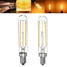 Refrigerator Light Bulbs Dimmable Retro 2w E12 E14 T20 Refrigerator Led Cob Filament Bulb