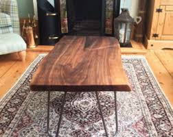 Walnut Wood Coffee Table Slab Coffee Table Etsy