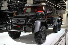 six wheel mercedes suv brabus b63s 700 6x6 is an even wilder six wheel g wagen