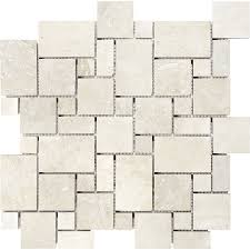 shop chiaro filled and honed natural stone mosaic versailles wall