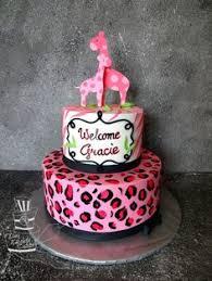 wild safari pink baby shower cake pink safari baby shower themed